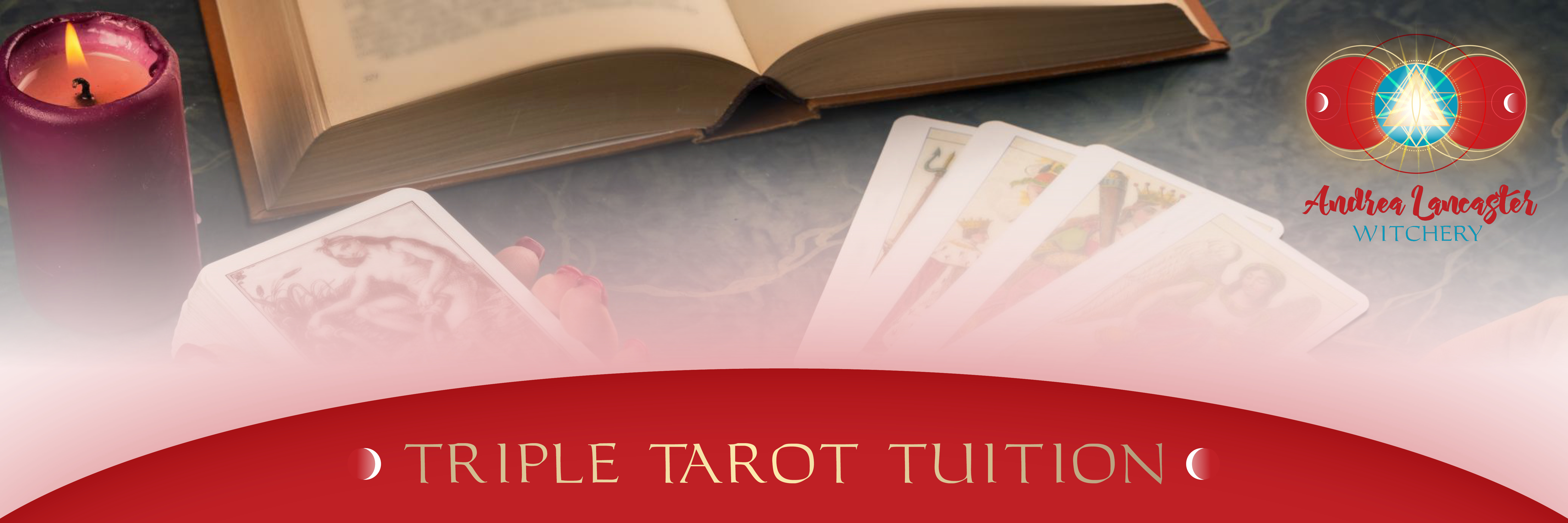 simplero triple tarot tuition banner